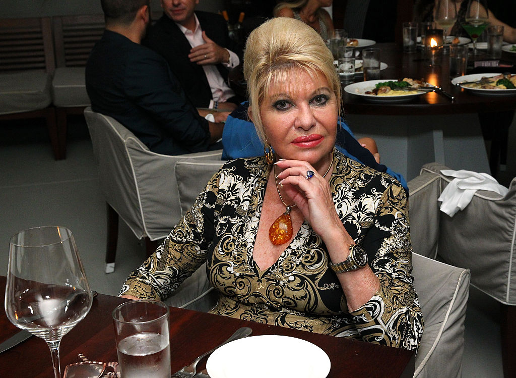 Ivana Trump at an art dinner