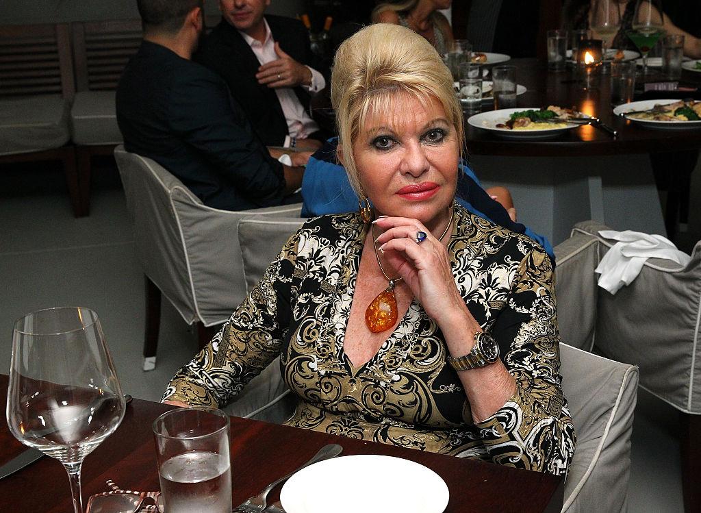 Ivana Trump at an art dinner