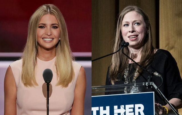 Ivanka Trump and Chelsea Clinton collage.