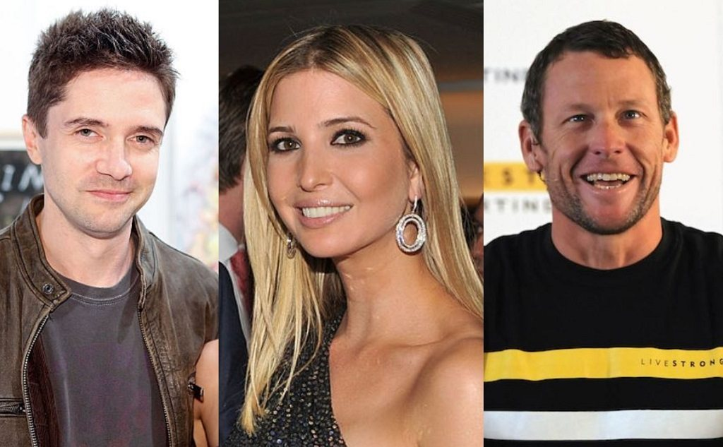 Topher Grace, Ivanka Trump, Lance Armstrong