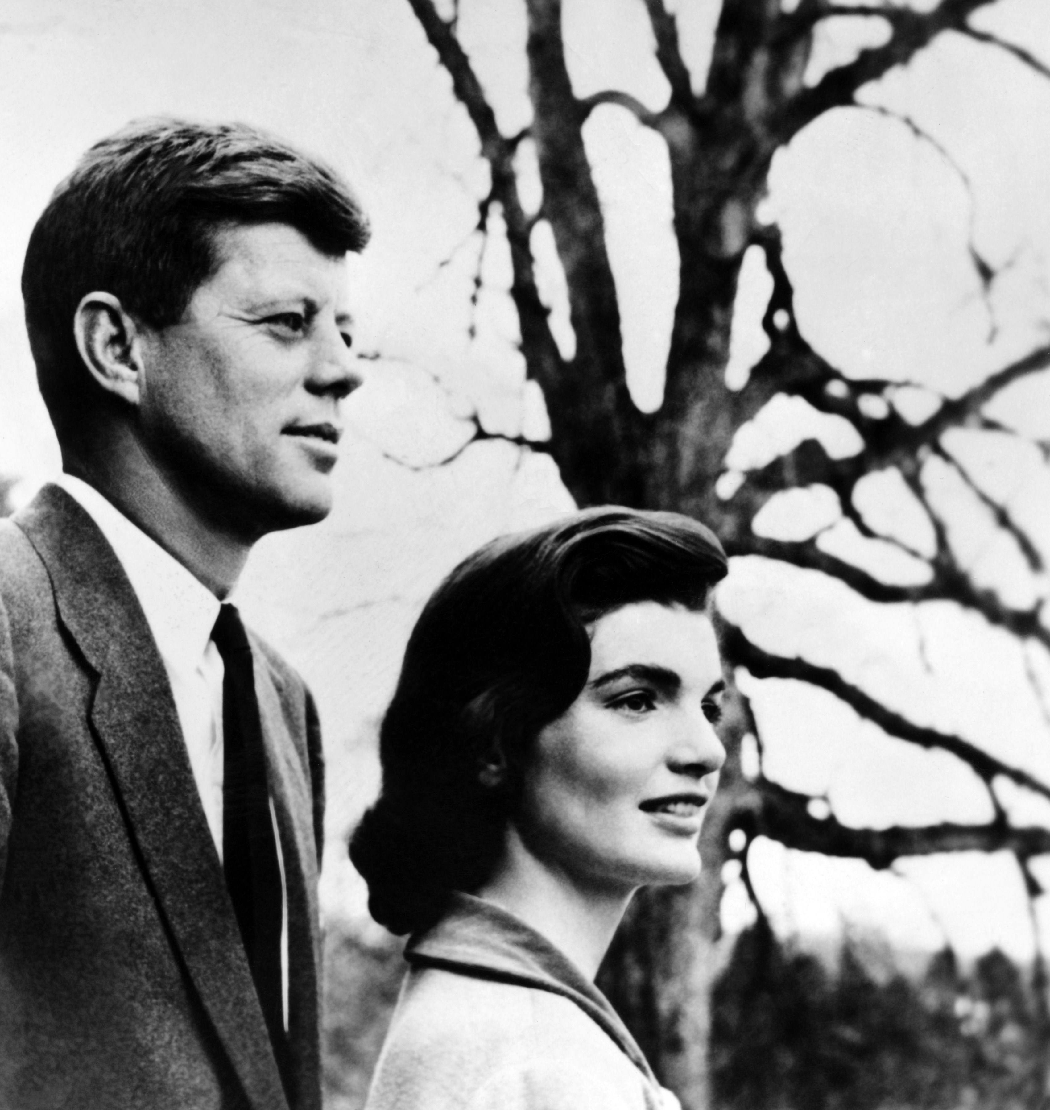 Senator John Fitzgerald Kennedy (JFK) his wife Jacqueline Kennedy