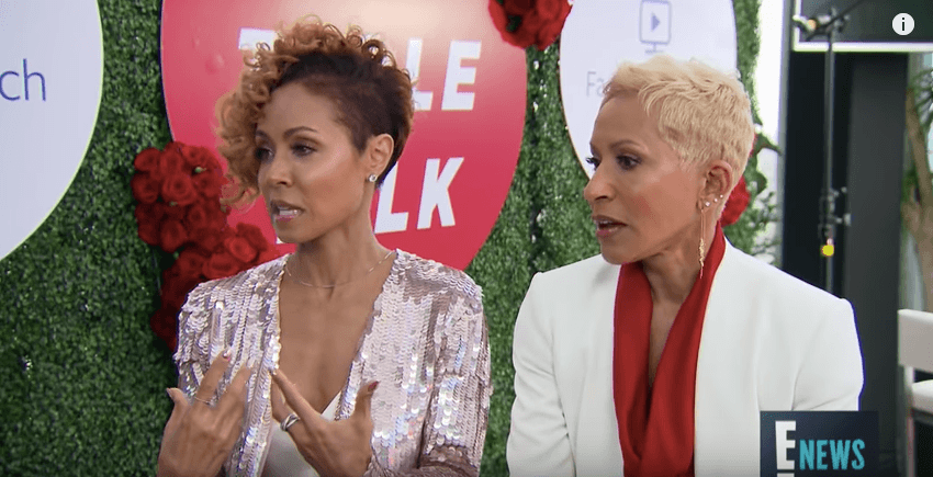 Jada Pinkett Smith talking with Adrienne Banfield-Norris