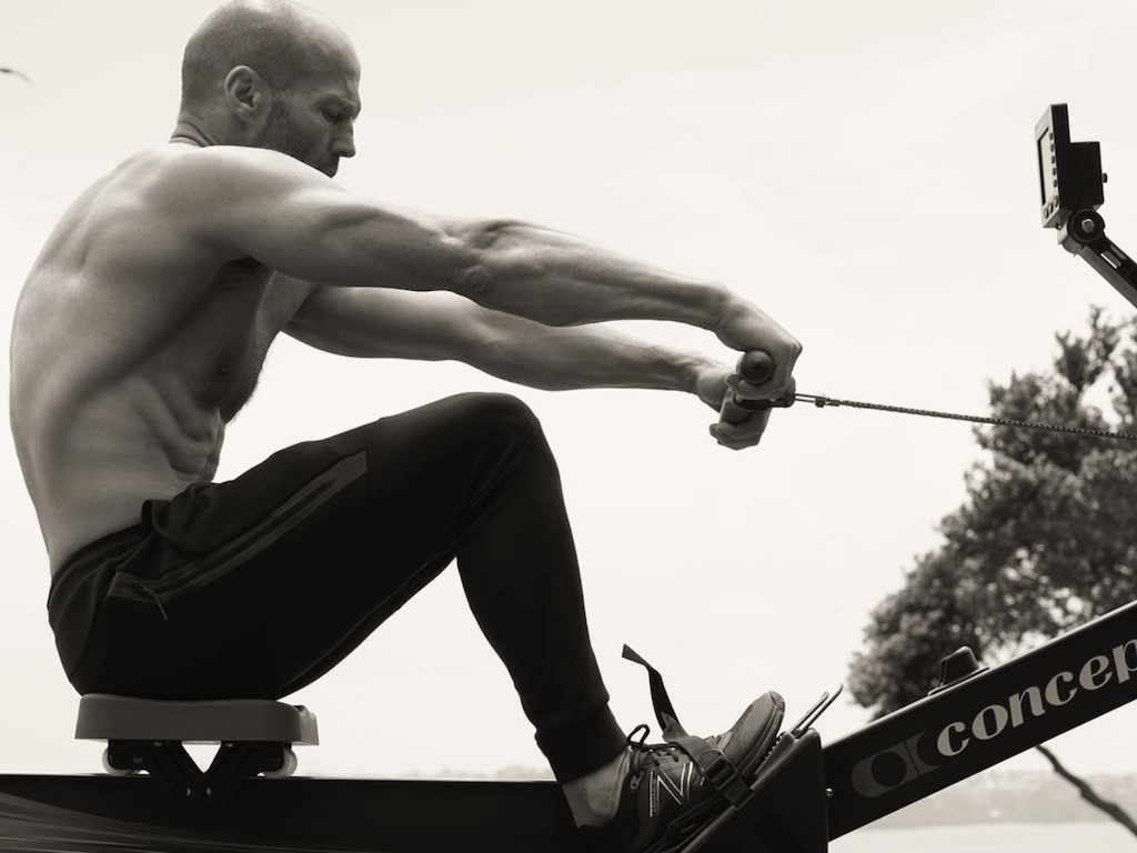 A rowing picture of Jason Stathem