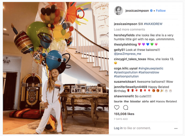 Jessica Simpson's daughter on her birthday.