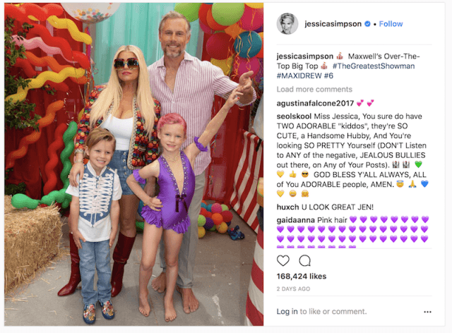 Jessica Simpson and her family.