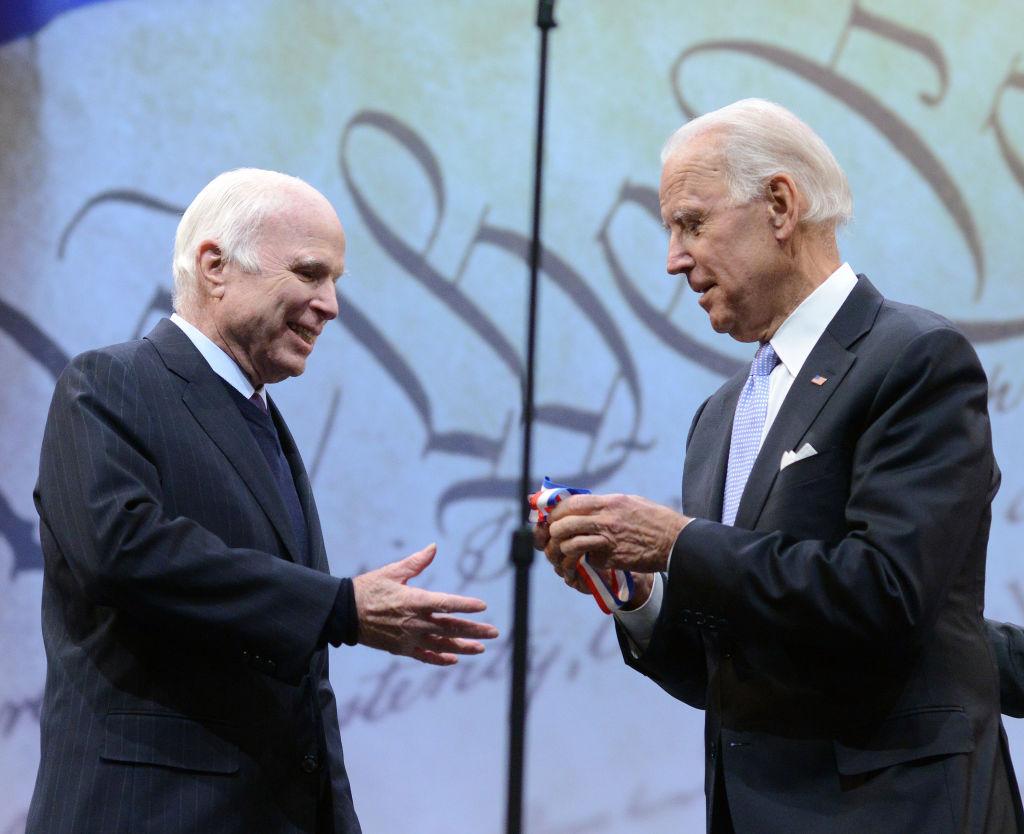 Sen. John McCain (R-AZ) receives the the 2017 Liberty Medal
