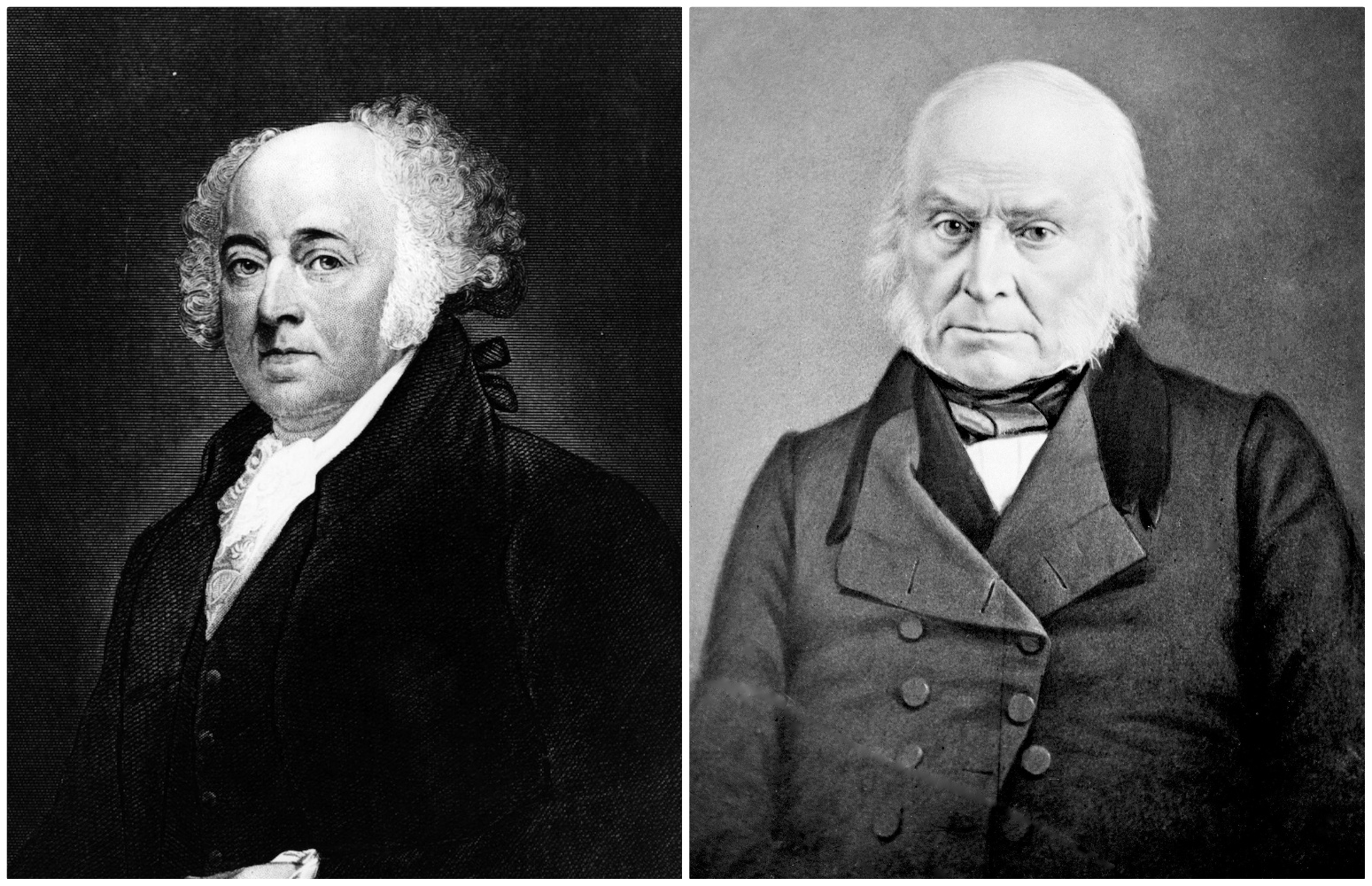John and John Quincy Adams photo collage