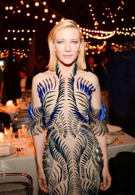 Cate Blanchett attend the Women in Motion Awards Dinner