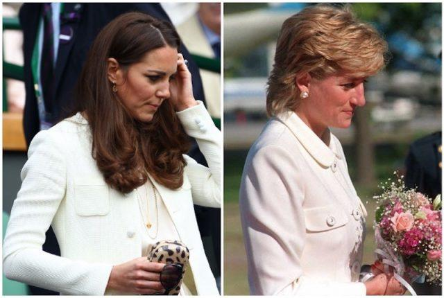 Princess Diana and Kate Middleton collage.