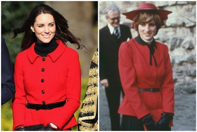 Kate Middleton Princess Diana comparison