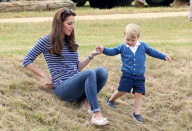 Kate Middleton playing with Prince George.