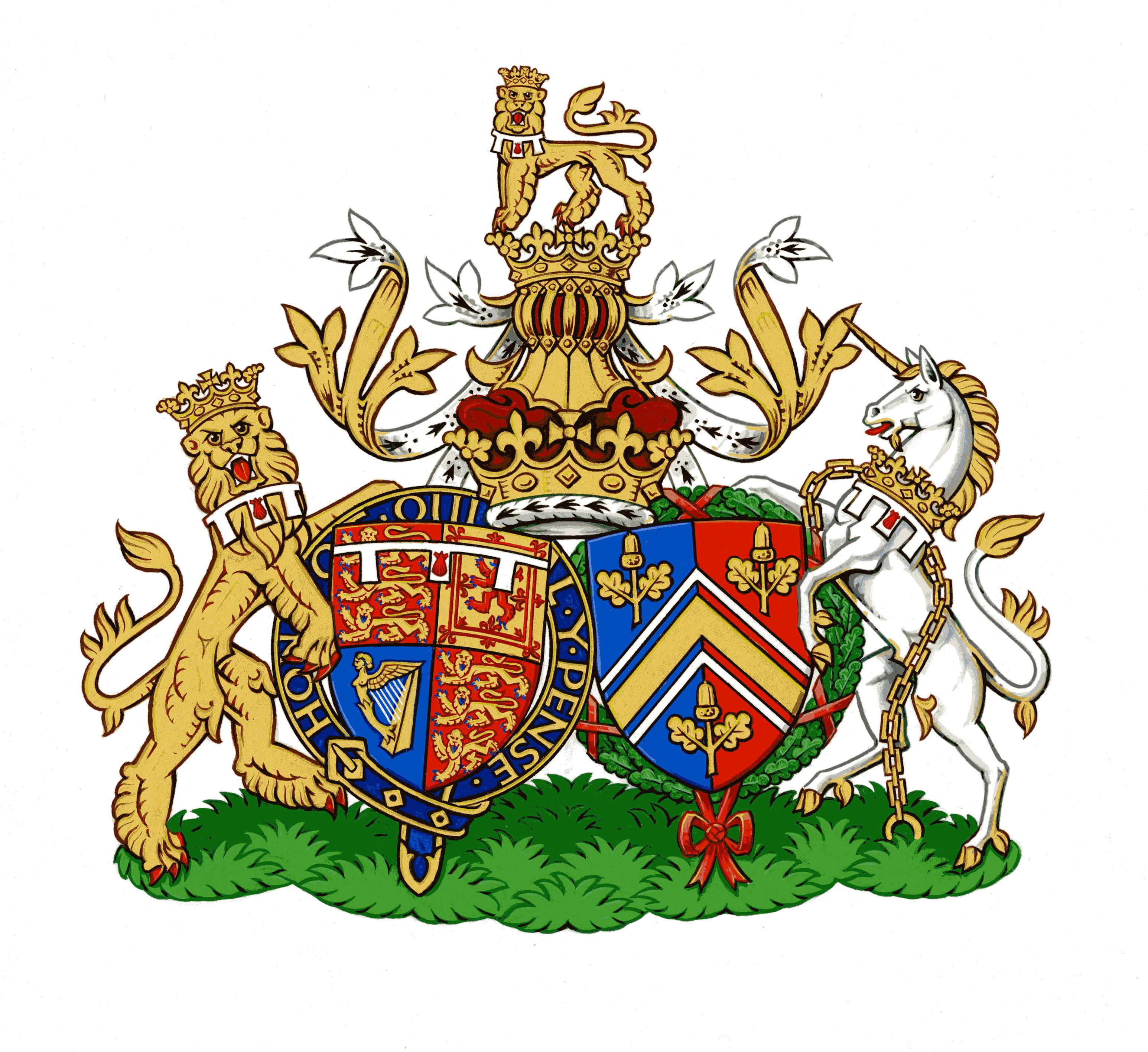 Duke and Duchess of Cambridge's Conjugal Coat of Arms
