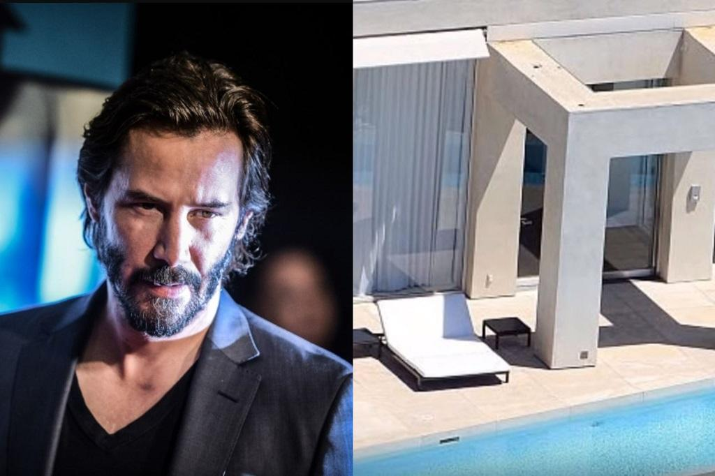Actor Keanu Reeves and his home in the Hollywood Hills
