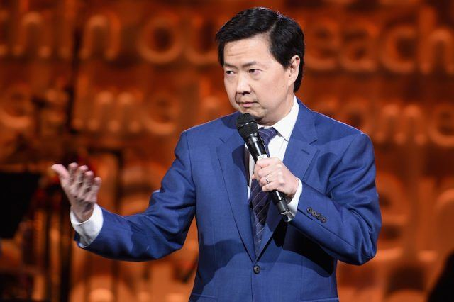 Ken Jeong performing on stage.