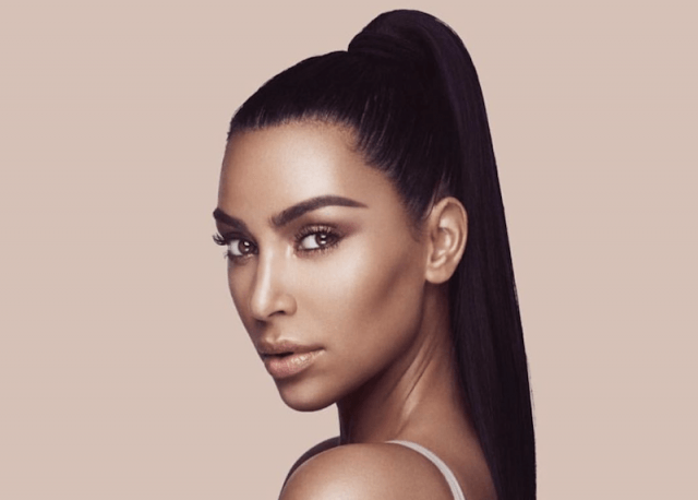 Kim Kardashian in a campaign for her makeup line.