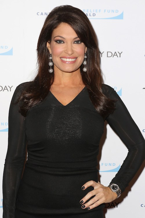 Kimberly Guilfoyle posing with her hand on her hip.