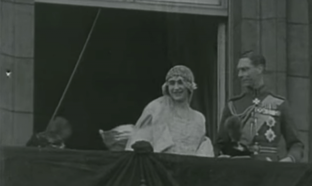 King George VI and Queen Elizabeth I on their wedding day.