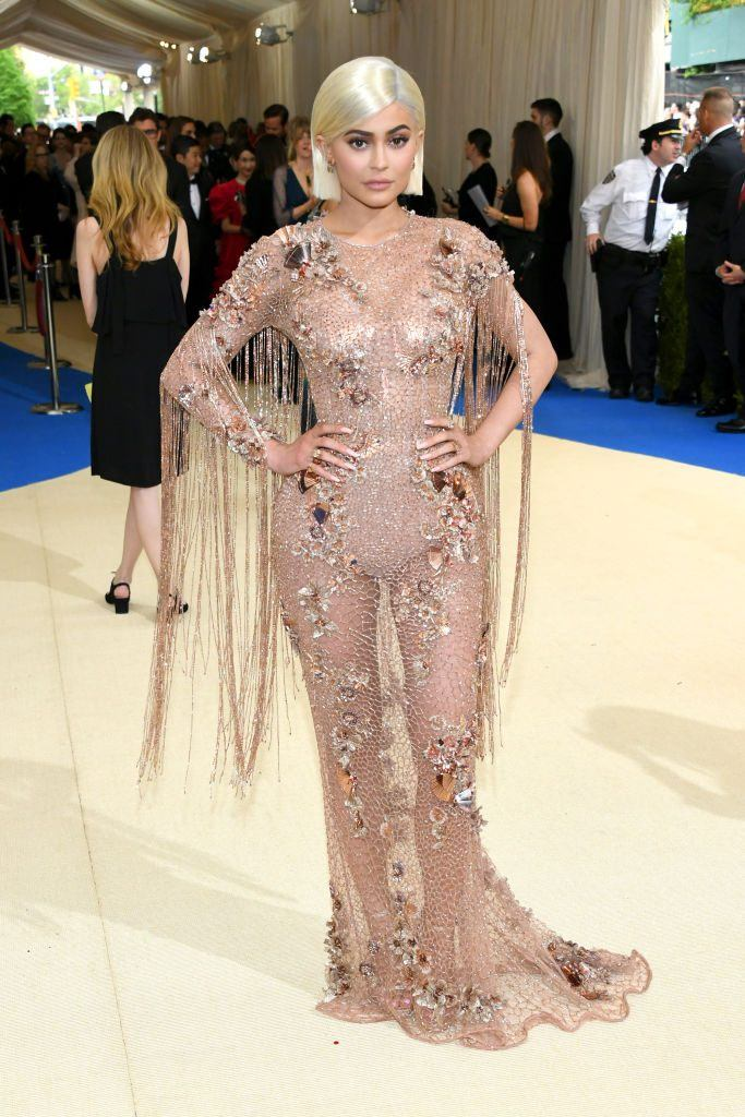 """Kylie Jenner attends the """"Rei Kawakubo/Comme des Garcons: Art Of The In-Between"""" Costume Institute Gala at Metropolitan Museum of Art on May 1, 2017 in New York City"""