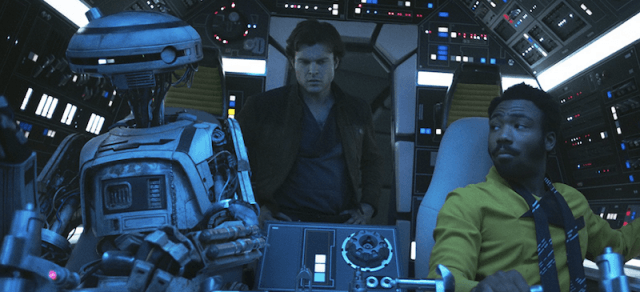 L3-37 in the ship with Han and Solo.