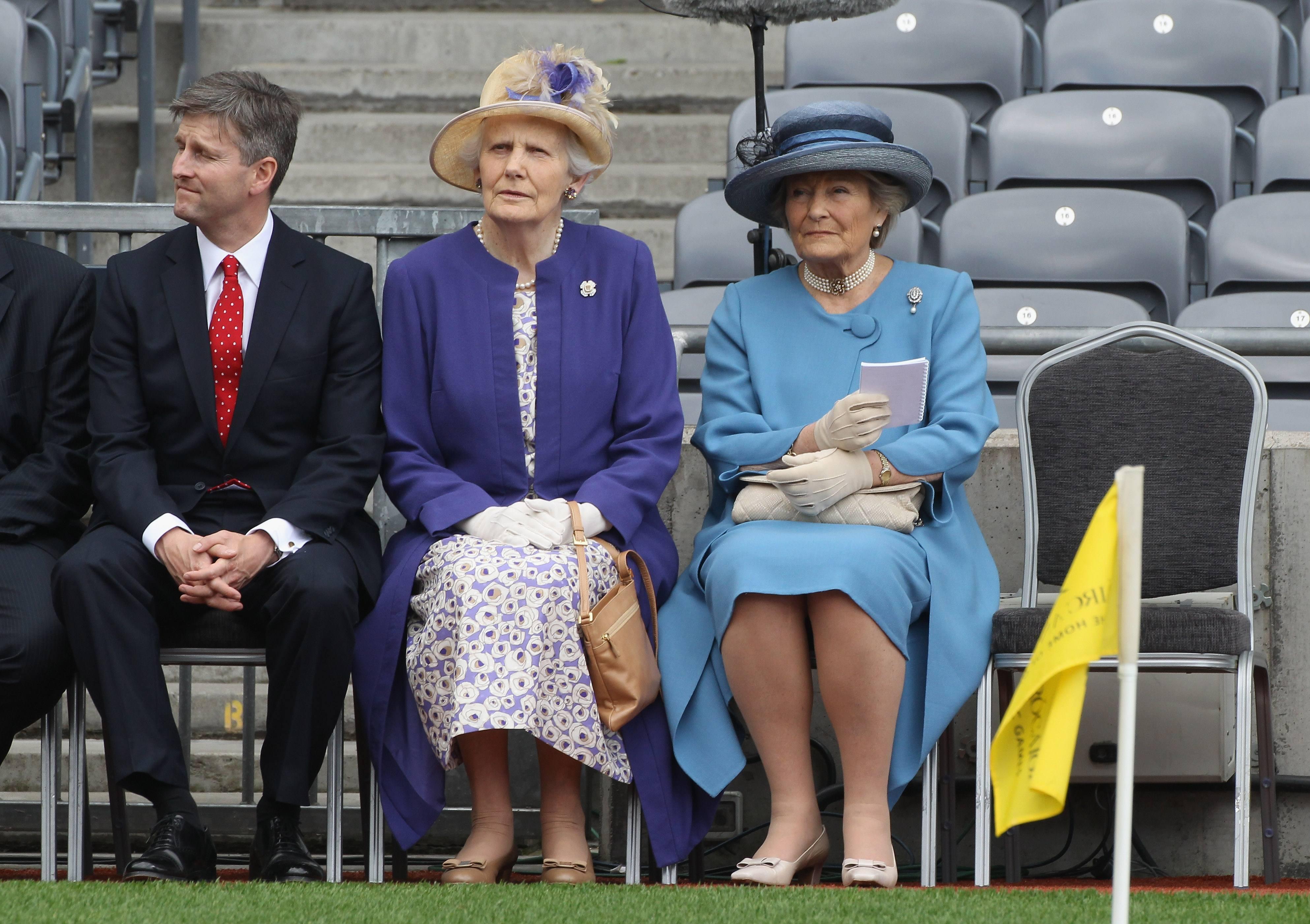 The Queen's Ladies in waiting sit at Croke Park