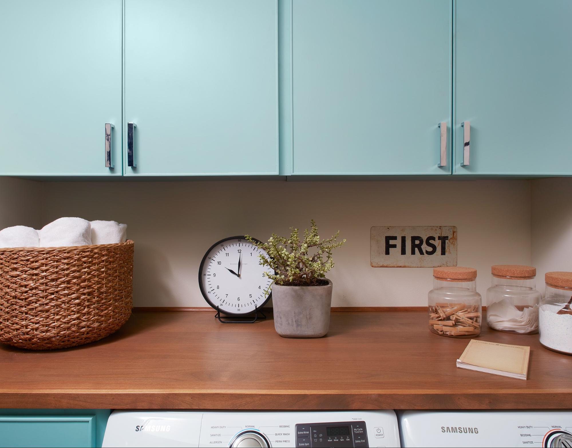 Laundry room folding space fixer upper