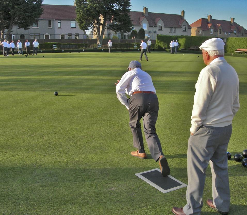 Lawn Bowler playing his shot