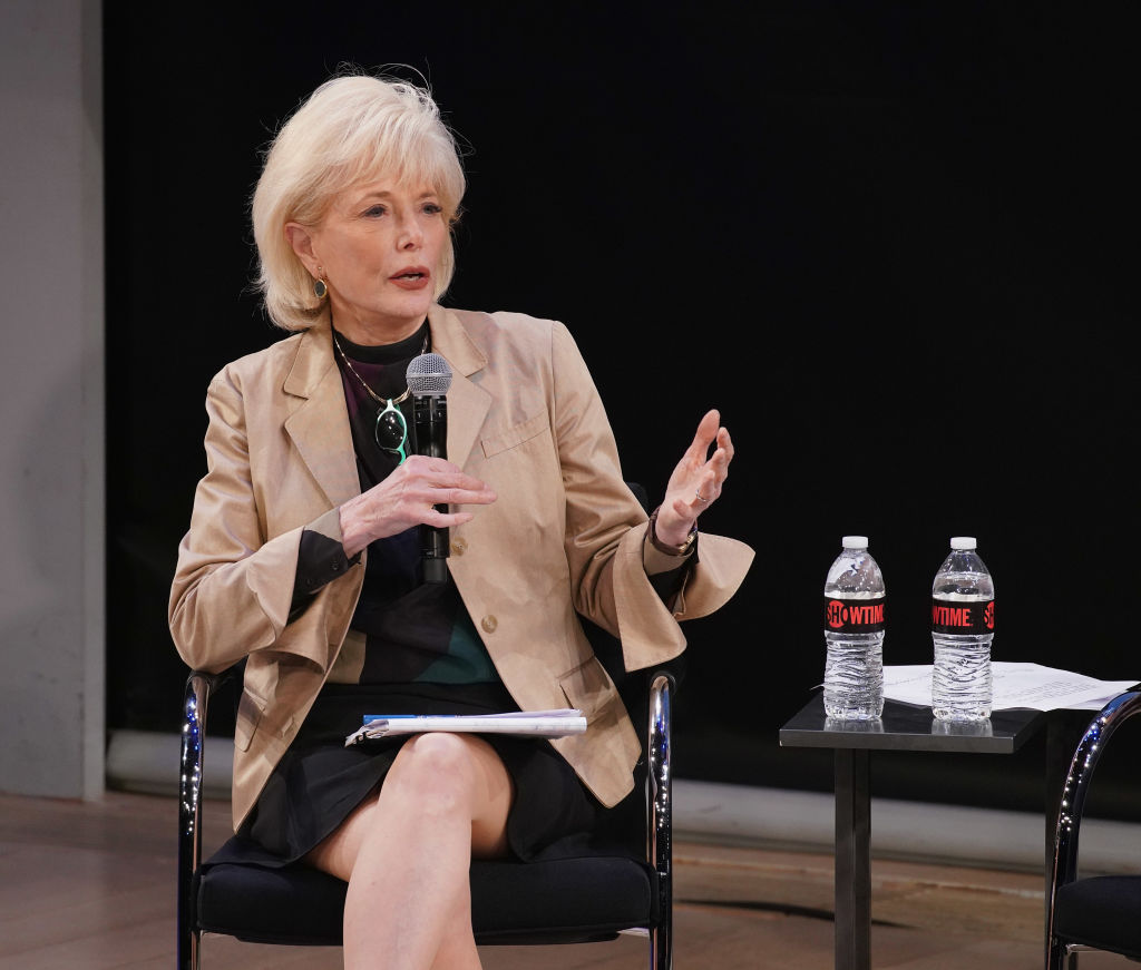Moderator Lesley Stahl speaks during the Showtime Emmy FYC