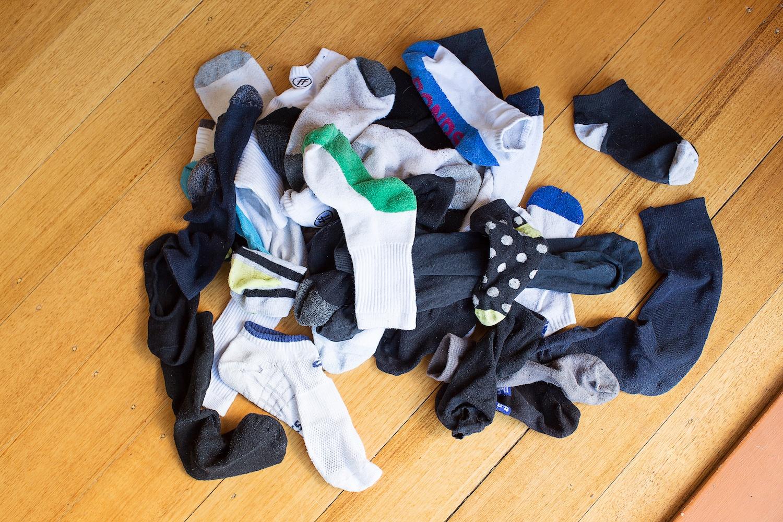 Pile of Lost Socks