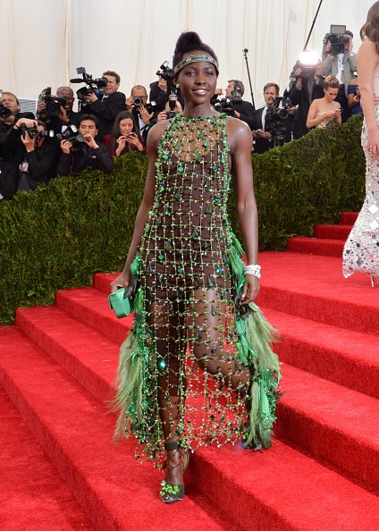 """Actress Lupita Nyong'o attends the """"Charles James: Beyond Fashion"""" Costume Institute Gala at the Metropolitan Museum of Art"""