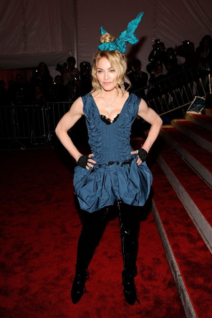 "Madonna attends ""The Model as Muse: Embodying Fashion"" Costume Institute Gala at The Metropolitan Museum of Art on May 4, 2009 in New York City"