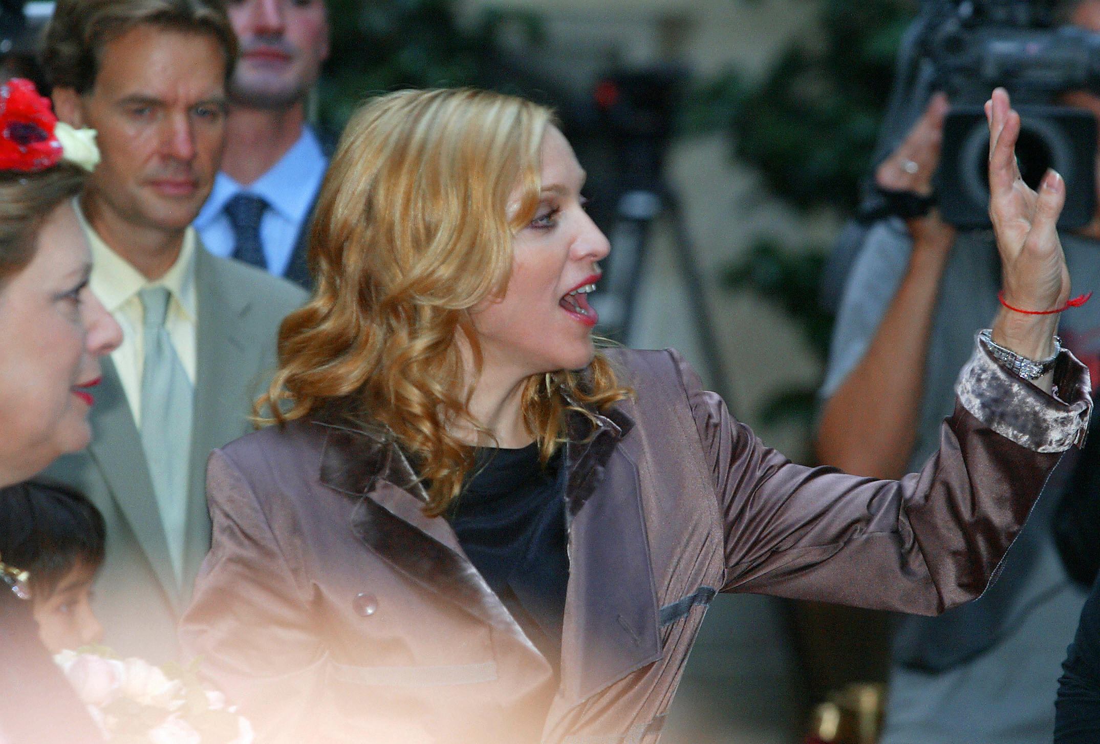 Rock star Madonna promotes her children's books inspired by Kabbalah.