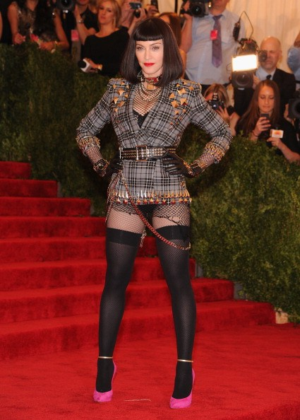 """Madonna attends the Costume Institute Gala for the """"PUNK: Chaos to Couture"""" exhibition at the Metropolitan Museum of Art"""