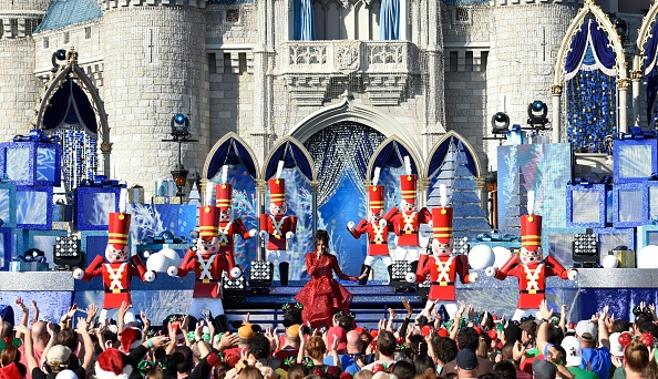 "Grammy-Award winning artist Ciara performs ""Rockin' Around the Christmas Tree"" at Magic Kingdom Park"