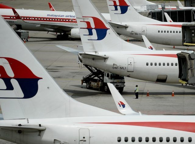 Planes in a Malaysian airport.
