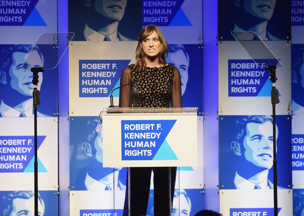 Mariah Kennedy Cuomo speaks onstage during Robert F. Kennedy Human Rights Hosts Annual Ripple Of Hope Awards Dinner
