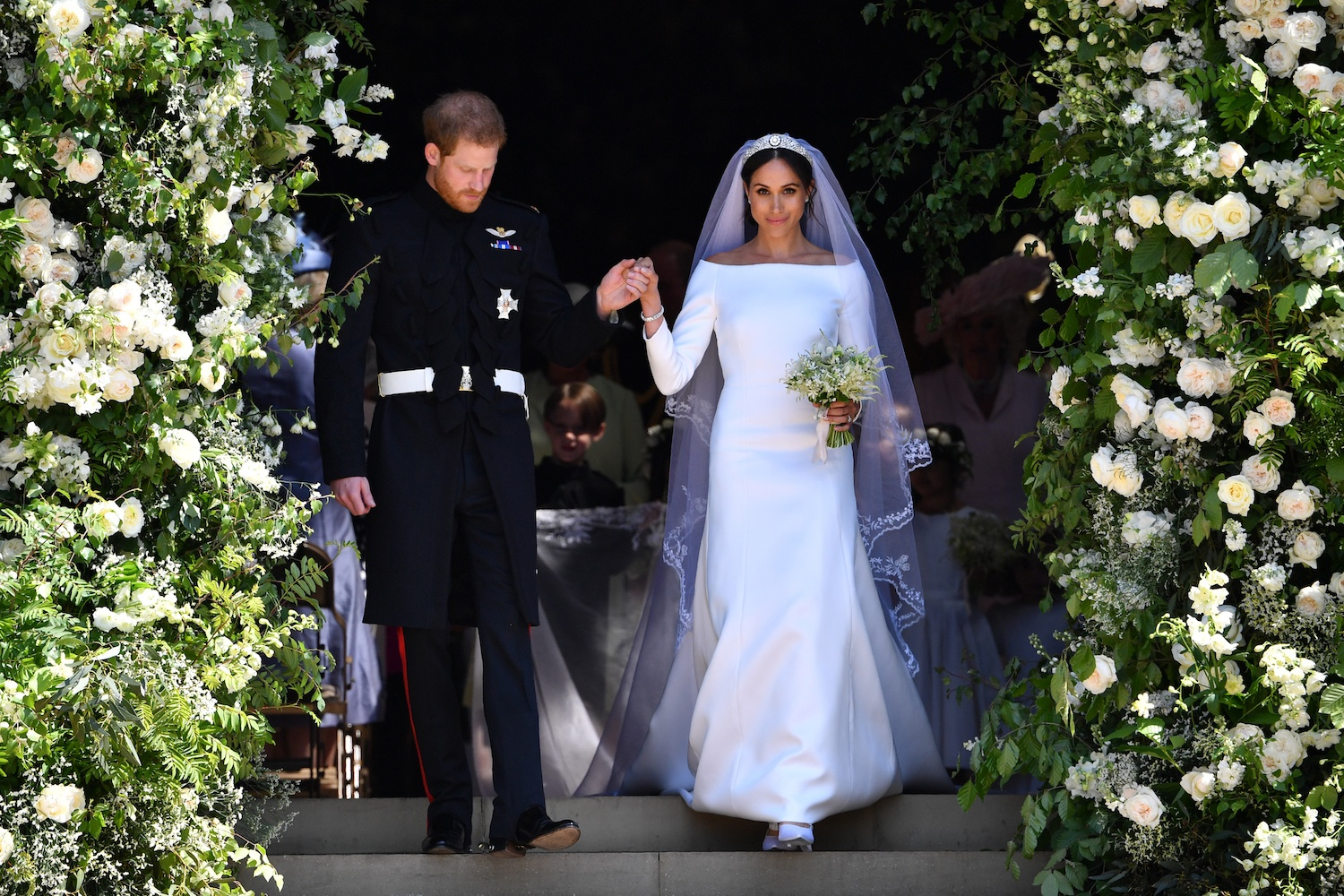 Prince Harry marries Meghan Markle.