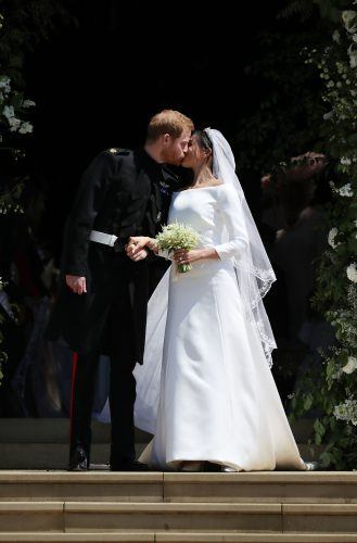 Prince Harry and Meghan Markle's first kiss