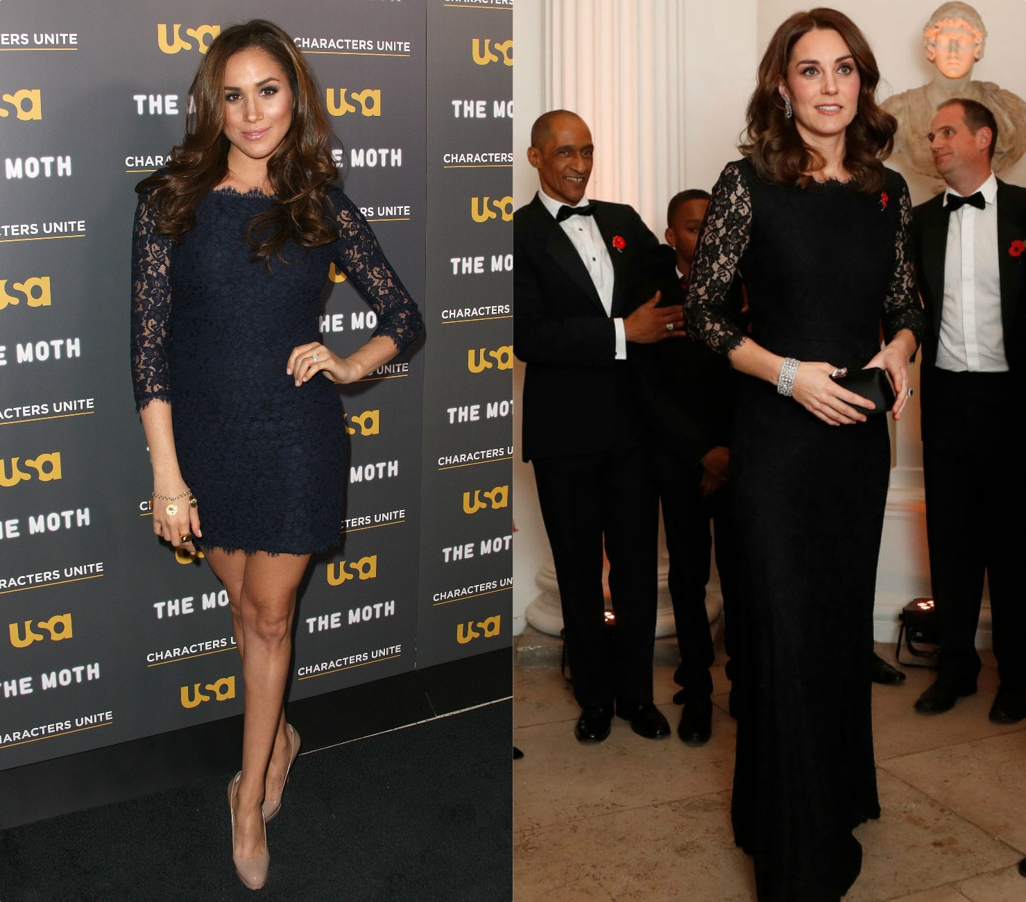 Meghan Markle and Kate Middleton dress