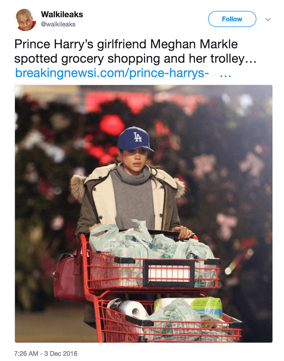 Meghan Markle grocery shopping