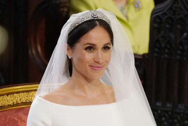 Meghan Markle in her wedding gown