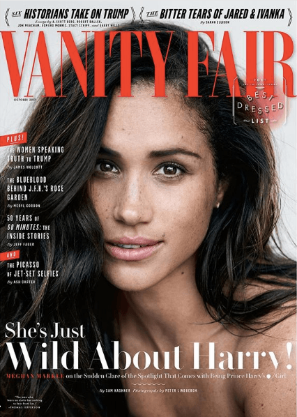 Meghan Markle on the cover of Vanity Fair UK