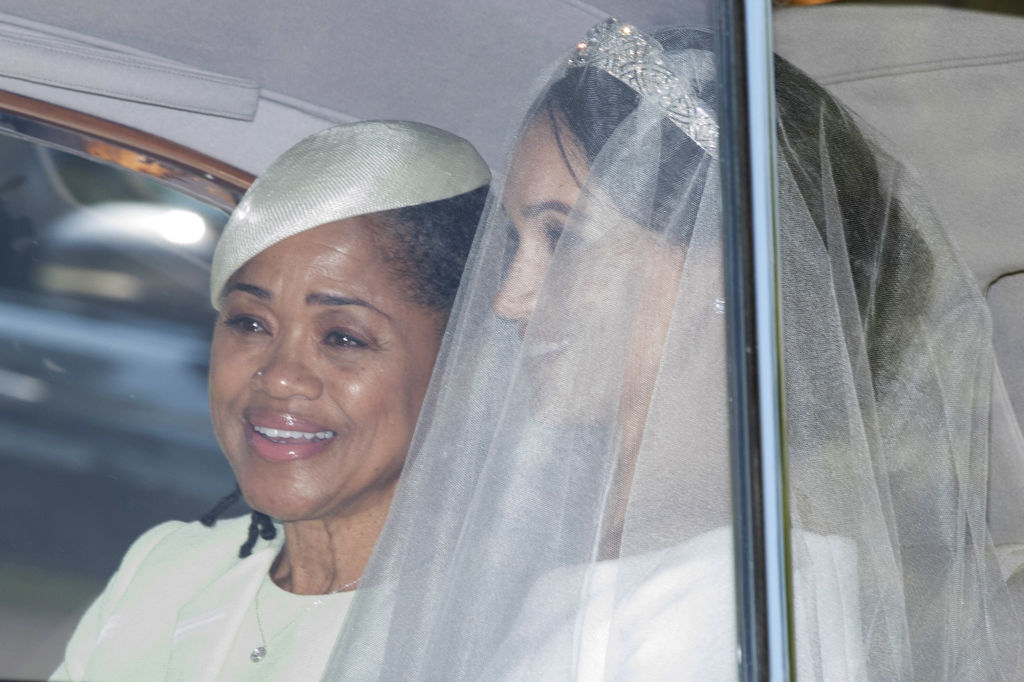 Meghan Markle and her mother Doria Ragland at the wedding