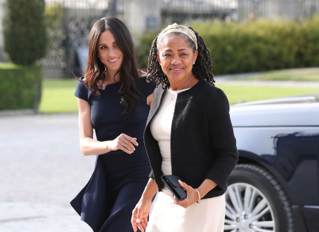 Meghan Markle and her mother Doria Ragland Preparations for Royal Wedding of Harry and Meghan