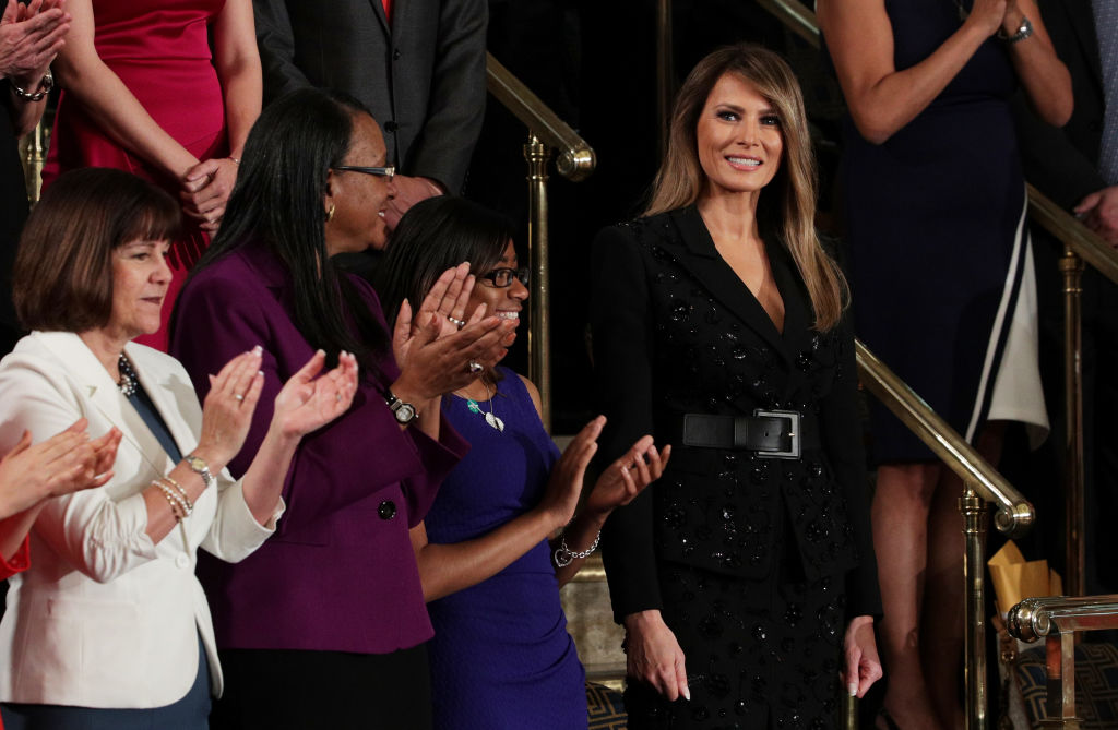 Melania Trump at the address to congress