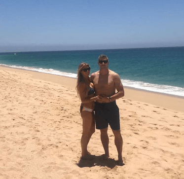 Christina El Moussa and her boyfriend, Ant Anstead, on the beach