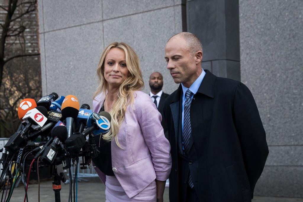 Lawyer Michael Avenatti with Stormy Daniels