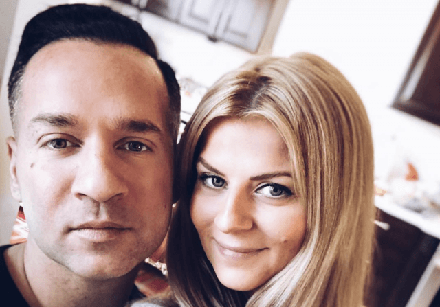Mike Sorrentino and his fiancé, Lauren.