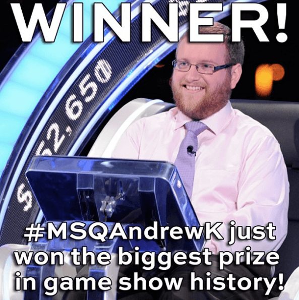 Andrew Kravis, winner of The Million Second Quiz