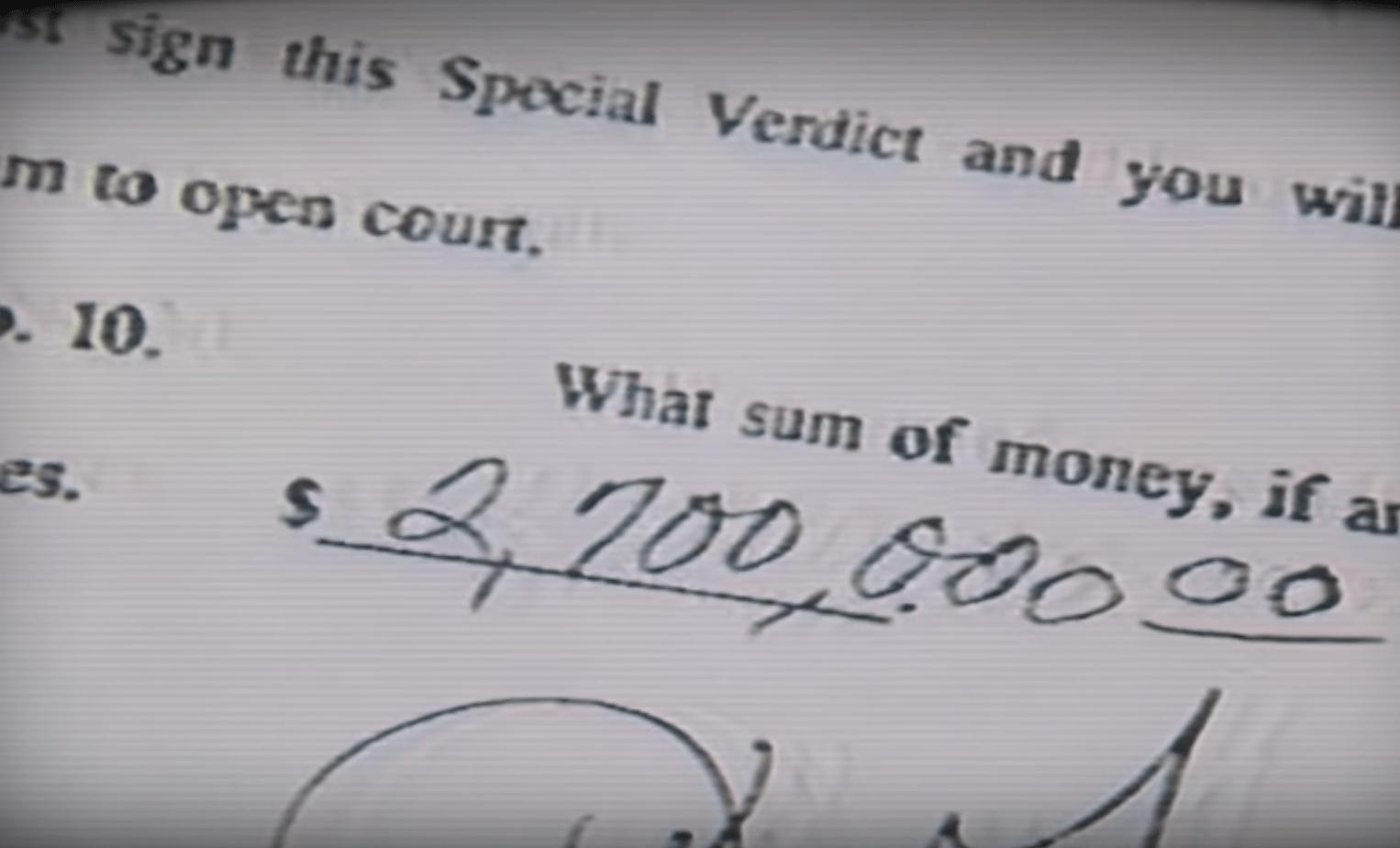 Millions jury compensation