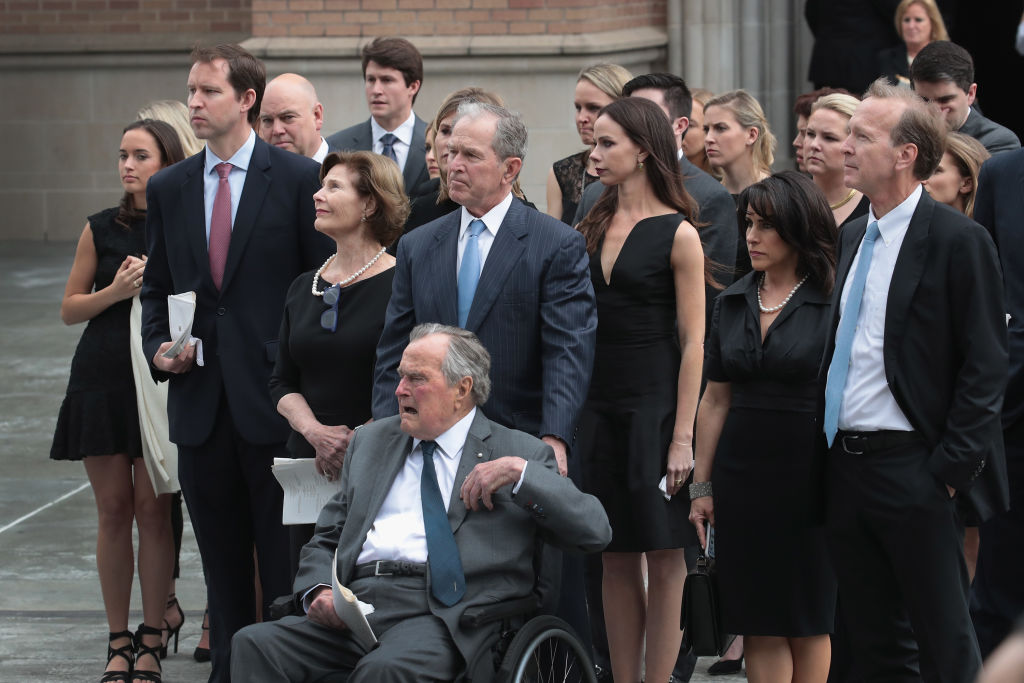 Former president George H.W. Bush and son, former president George W. Bush